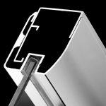 Sistemul permite preluarea denivelărilor peretelui până la 10 mm