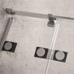 Zawias zlicowany z taflą szkła ułatwiający czyszczenie