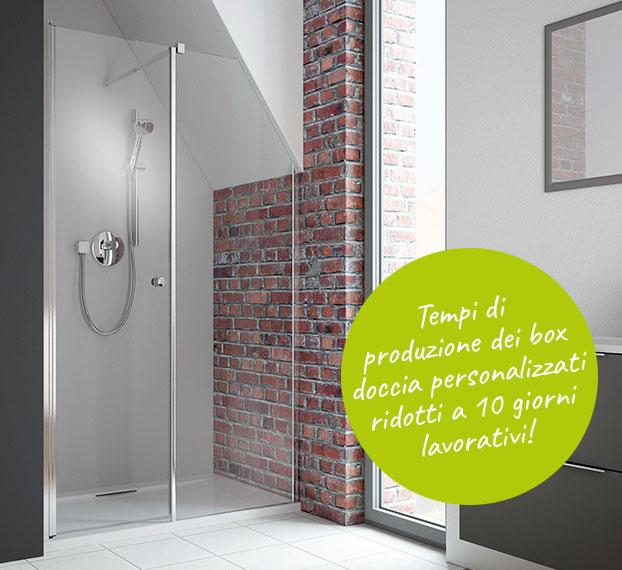 Produzione velocizzata di box doccia personalizzati